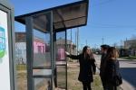 Se presentaron los nuevos refugios para paradas de micros