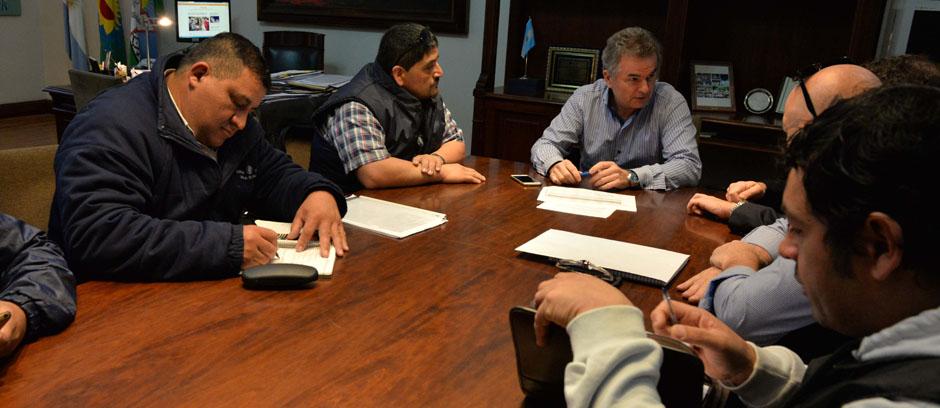 El intendente recibió a representantes de la Unión Obrera de la Construcción